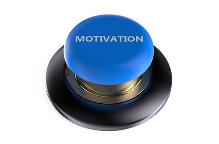 push button: motivation push button  isolated on white background