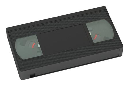 videocassette: videocinta primer aislado en el fondo blanco