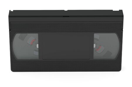 videocassette: videotape closeup isolated on white background