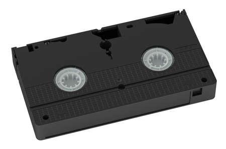 videokassette: Videoband Gro�ansicht auf wei�em Hintergrund