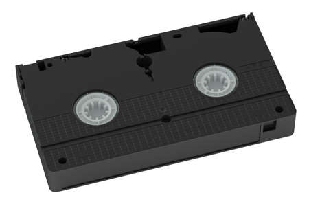 video cassette tape: videotape closeup isolated on white background