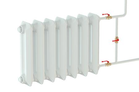 cast iron heating radiator isolated on white background