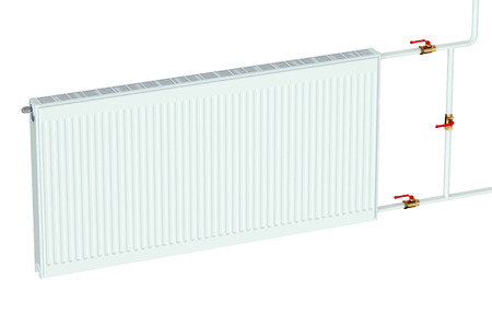 convective: eco radiator isolated on white background