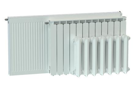 Radiatori per riscaldamento isolato su sfondo bianco Archivio Fotografico - 42665570