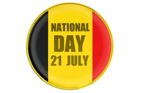 declaration of independence: Badge of National Day in Belgium