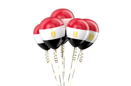 declaration of independence: Egypt patriotic balloons isolated on white background