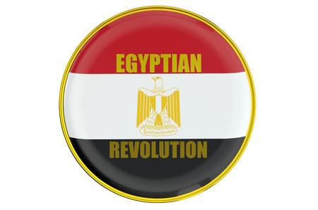 egypt revolution: Egyptian Revolution 1952 concept isolated on white background