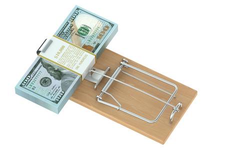 investmen: Money Trap isolated on white background