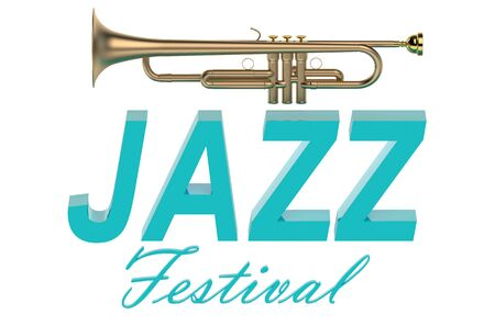 jazzy: Jazz Festival concept  isolated on white background