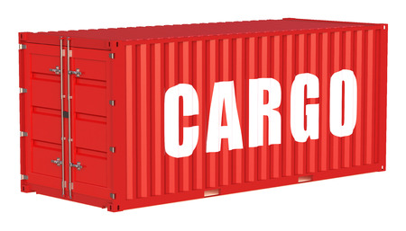cargo container: cargo container isolated on white background