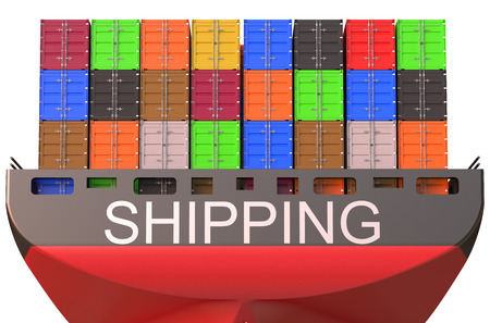 container ship, shipping concept isolated on white background
