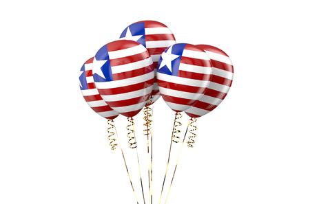 declaration of independence: Liberia patriotic balloons