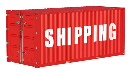 cargo container: shipping cargo container isolated on white background