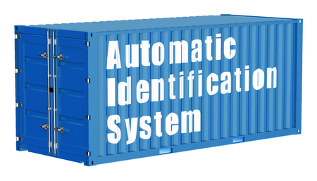 automatic: automatic identification system concept with cargo container