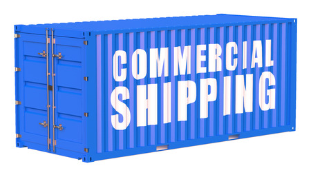 comercial: cargo container, comercial shipping concept isolated on white background