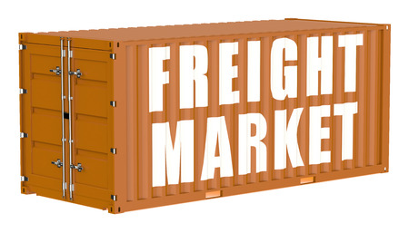 container freight: cargo container, freight market concept isolated on white background