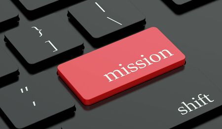 command button: Mission concept, red hot key on keyboard