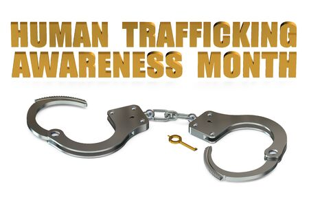 prostitution: Human Trafficking Awareness Month concept