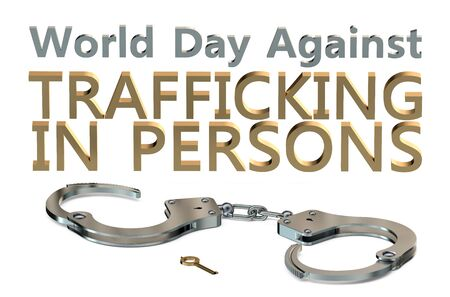 prostitution: World Day Against Trafficking in Persons 30 July concept