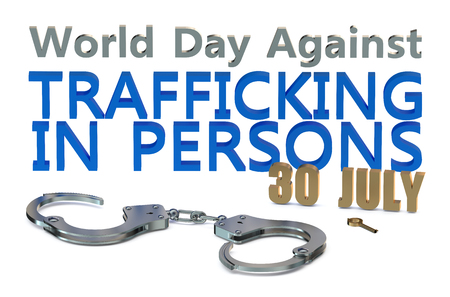 trafficking: World Day Against Trafficking in Persons concept