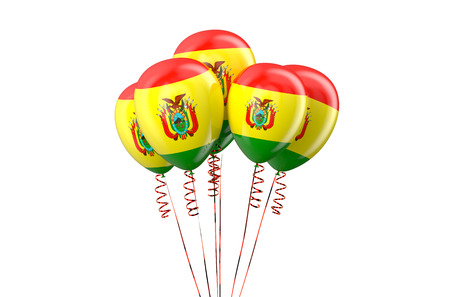 declaration of independence: Bolivia patriotic balloons isolated on white background