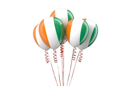 coast: Ivory Coast patriotic balloons  isolated on white background
