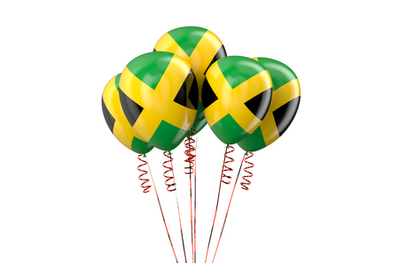 declaration of independence: Jamaica patriotic balloons isolated on white background
