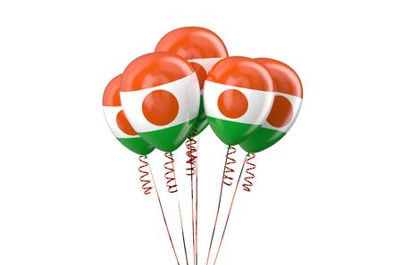 holyday: Niger patriotic balloons,  holyday concept  isolated on white background