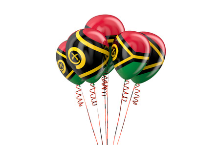 declaration of independence: Vanuatu patriotic balloons isolated on white background