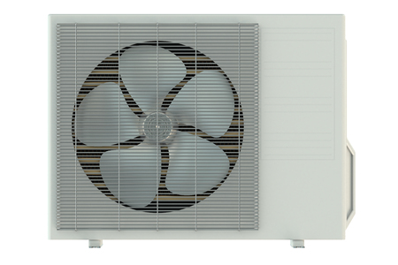 the unit: Air conditioner unit isolated on white background Stock Photo