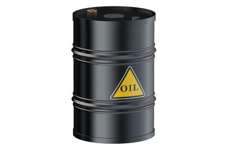 barril de petr�leo: Barril de petr�leo aislado en el fondo blanco