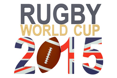rugger: Rugby World Cup 2015 Great Britain concept isolated on white background Stock Photo