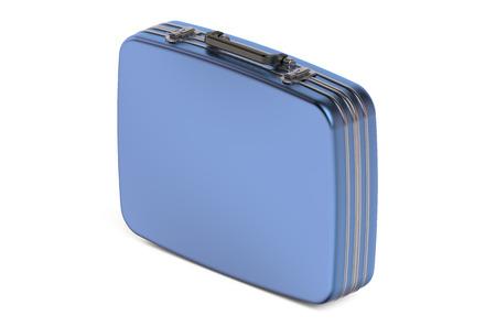 glamur: blue suitcase isolated on white background Stock Photo