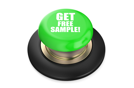 free sample: Get Free Sample green button isolated on white background