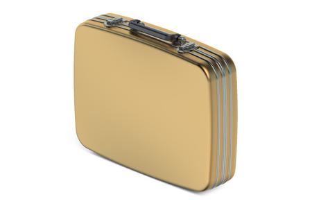gold metallic case isolated on white background