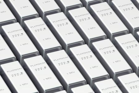 silver ingots: platinum ingots in the stack