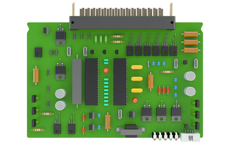 planar: Circuit board isolated on white background