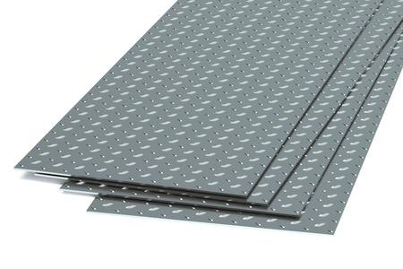 siderurgia: placas de diamante de acero Foto de archivo