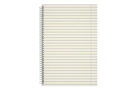 lined paper: blank notepad with lined paper isolated on white background