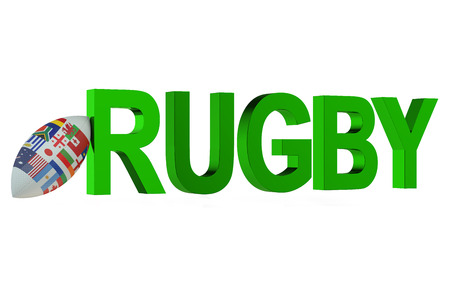 rugger: Rugby World Cup concept  isolated on white background