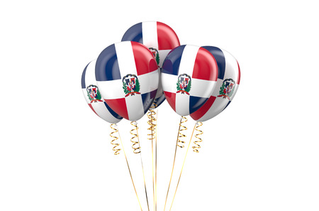 holyday: Dominican Republic patriotic balloons,  holyday concept