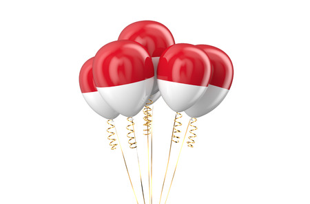 holyday: Indonesia patriotic balloons, holyday concept Stock Photo