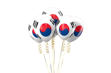 holyday: South Korea patriotic balloons, holyday concept Stock Photo