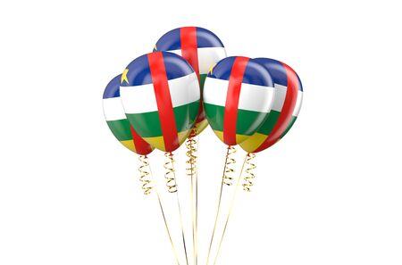 central african republic: Central African Republic CAR patriotic balloons, holyday concept