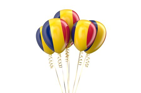 declaration of independence: Chad patriotic balloons, holyday concept