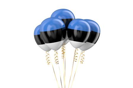 holyday: Estonia patriotic balloons,  holyday concept Stock Photo