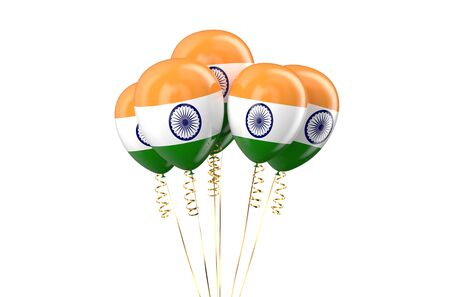 holyday: India patriotic balloons, holyday concept