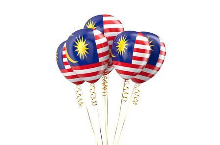 holyday: Malaysia patriotic balloons, holyday concept