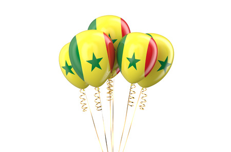 independence day: Senegal patriotic balloons, holyday concept
