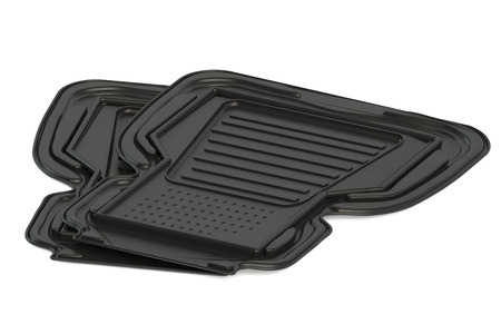 two car mats isolated on white background